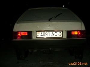 Подсветка номера и задние габаритные огни Ваз 2109