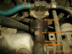 Принцип работы толкателя топливного насоса Ваз 2109