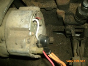 Щетки генератора Ваз 2109 заменены