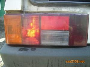 Включен задний противотуманный фонарь Ваз 2108, Ваз 2109, Ваз 21099