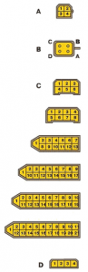 Штекера монтажного блока новой модели Ваз 2108, Ваз 2109, Ваз 21099