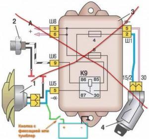 Схема включения вентилятора кнопкой