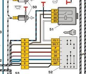 Схема для нового образца замка зажигания