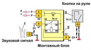 Схема звукового сигнала Ваз 2109