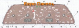 Евро панель приборов Ваз 2109