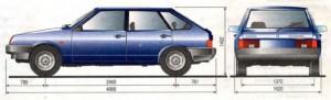 Размеры Ваз 2109