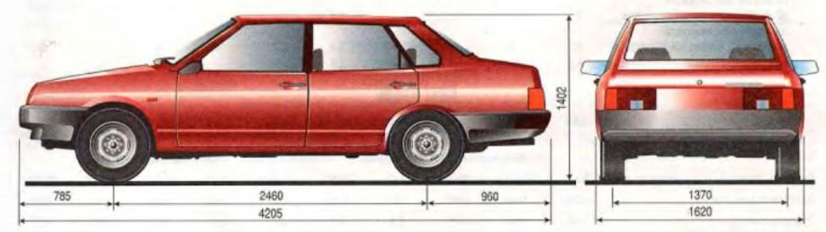 Размеры Ваз 21099