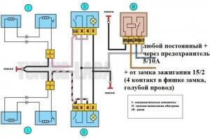 Электрическая схема подключения подогрева сидений